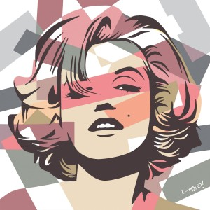 Marilyn Monroe por Lobo Pop Art