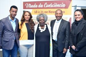 Tom Farias, Francisca Rodrigues, Conceição Evaristo, José Vicente e Mayra Lanza